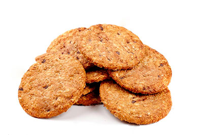 Biscuit à l'avoine et de farine de blé complet